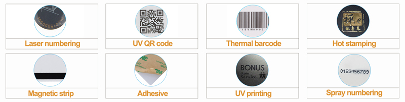 Personalization Options of RFID ISO Plastic Card