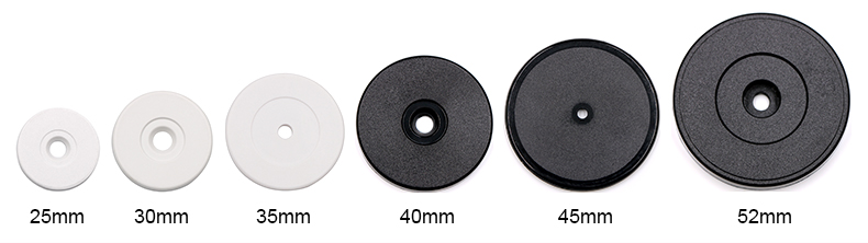 Size Options of Anti-metal RFID Tag (ABS)